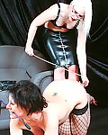 Lesbian english spankers extreme caning of cheeky slavegirl Crystels bare bottom in corporal punish